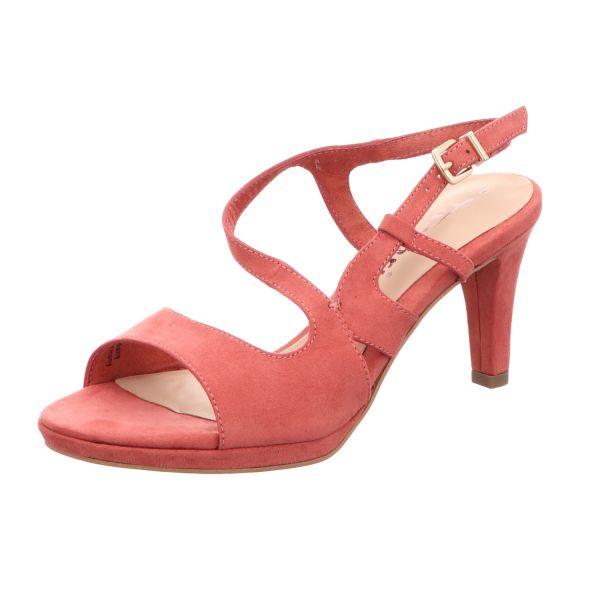 Tamaris Damen-Sandalette Pale-Ruby-Rot