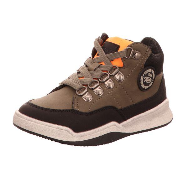 Sneakers Jungen-Schnürstiefelette Khaki-Grün-Schwarz-Braun
