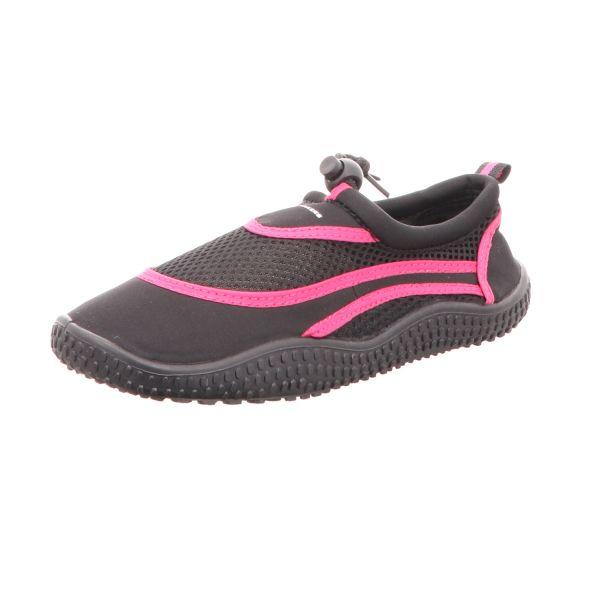 Sneakers Damen-Badeschuh Schwarz-Pink