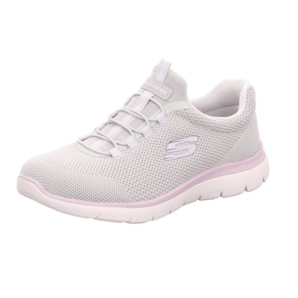 Skechers Damen-Sneaker-Slipper Summits Cool Classic Grau-Lila