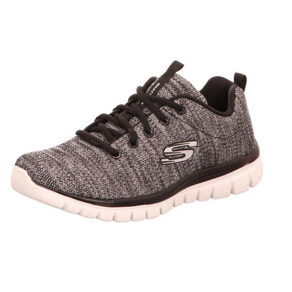 Skechers Damen-Sneaker Schwarz-Weiß