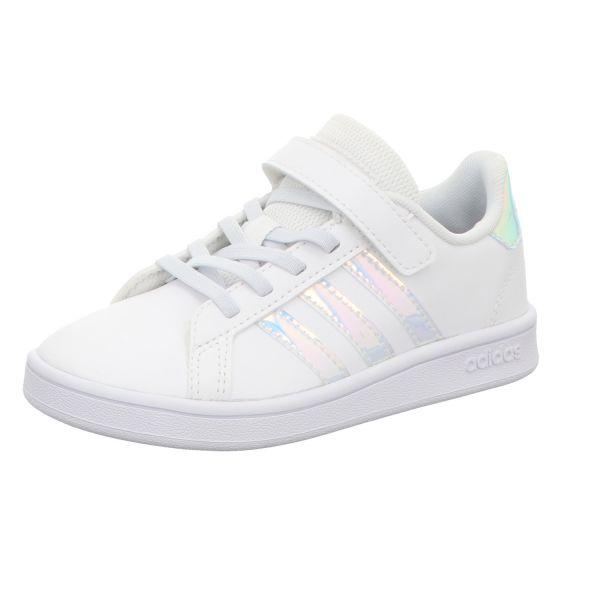 adidas Mädchen-Slipper-Kletter-Sneaker Grand Court C Weiß