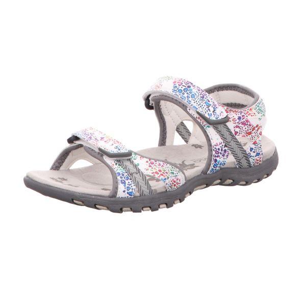 Alyssa Damen-Sandalette Weiß-Multi