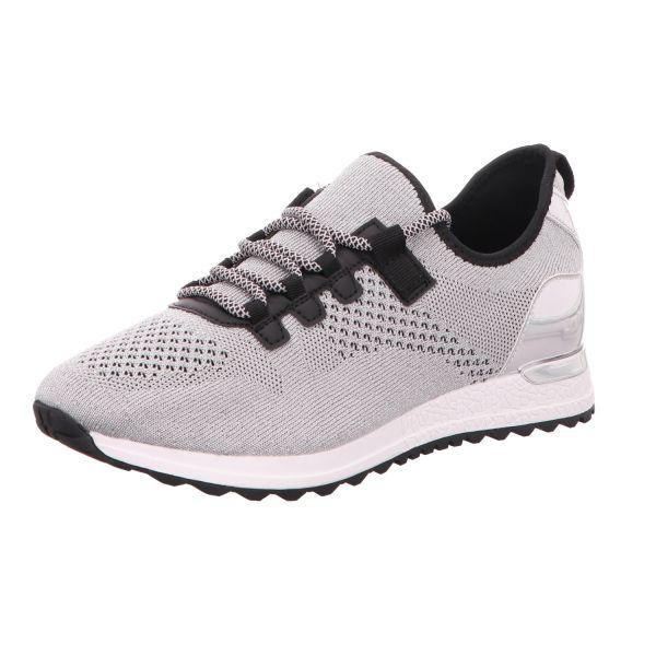 BOXX Damen-Sneaker-Slipper Silber-Schwarz