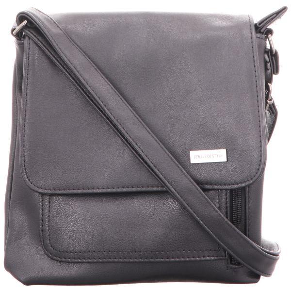 Jewels of Style Damen-Überschlagtasche Schwarz