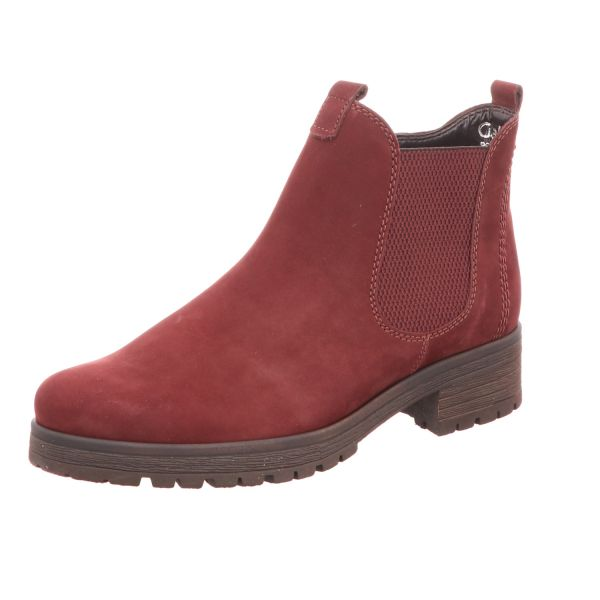 Gabor Comfort Damen-Stiefelette Chelsea Boot Dunkel-Rot