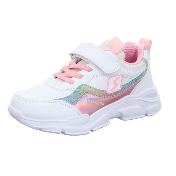 Sneakers Mädchen-Slipper-Kletter-Sneaker Weiß-Pink