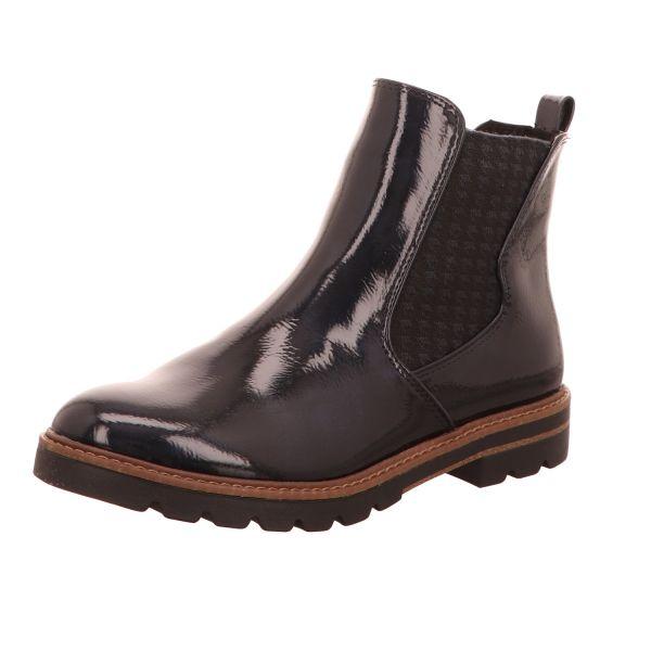 MARCO TOZZI Damen-Stiefelette Chelsea Boot navy patent Blau