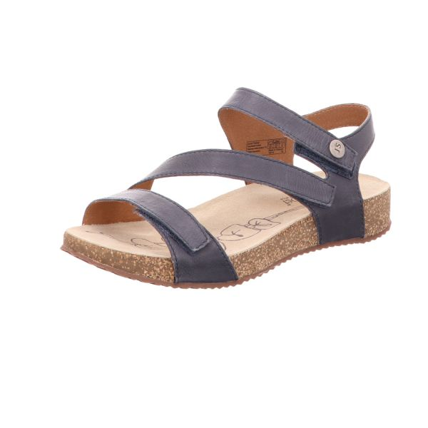 Josef Seibel Damen-Sandalette Tonga 25 Jeans-Blau