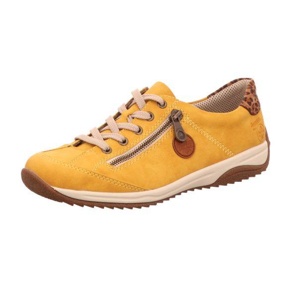 Rieker Damen-Schnürhalbschuh Honig-Gelb