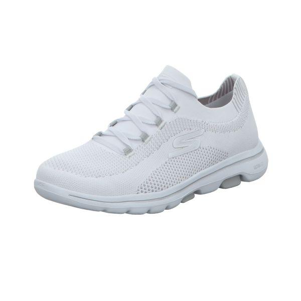 Skechers Damen-Sneaker-Slipper Go Walk 5 Uprise Weiß
