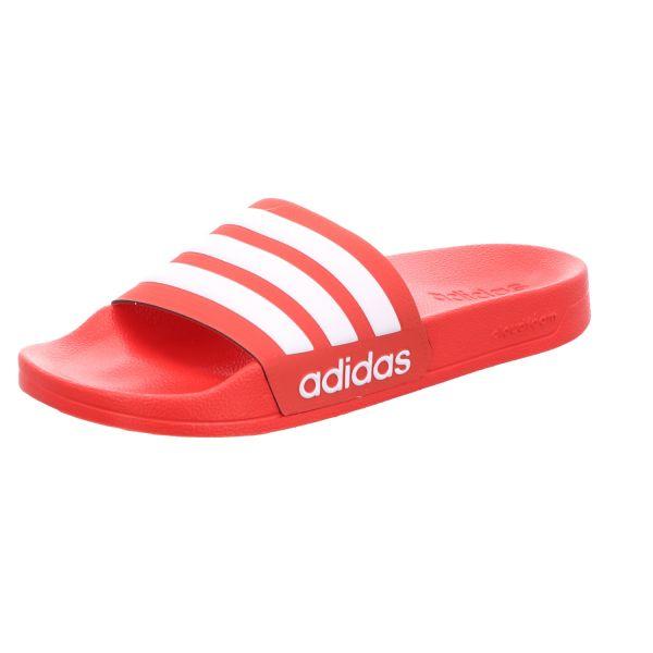 Adidas Herren-Badepantolette Rot-Weiß