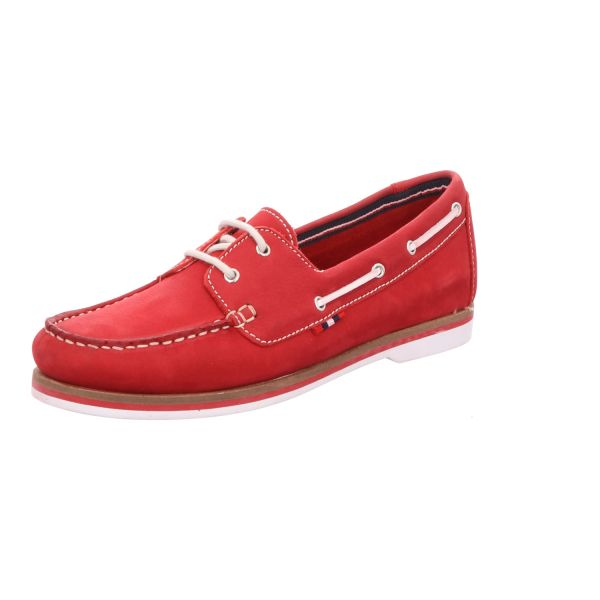 BOXX Damen-Schnürhalbschuh Casual Rot