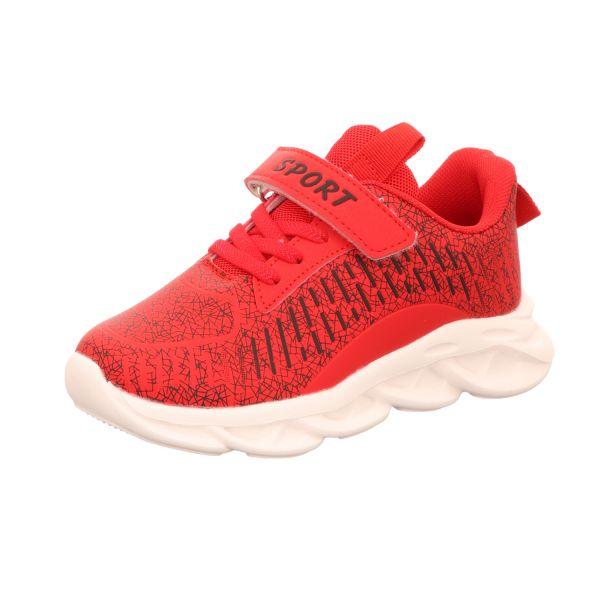 Sneakers Jungen-Sneaker Rot-Schwarz