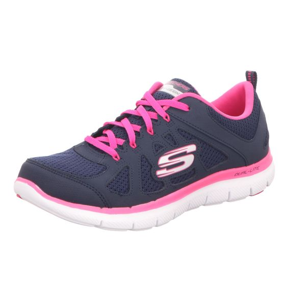 Skechers Damen-Sneaker Air Cooled Memory Foam Blau-Pink
