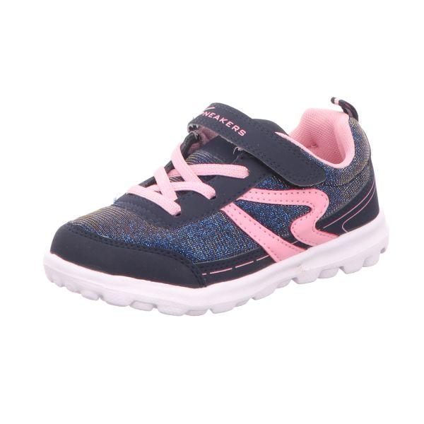 Sneakers Mädchen-Slipper-Kletter Blau-Pink