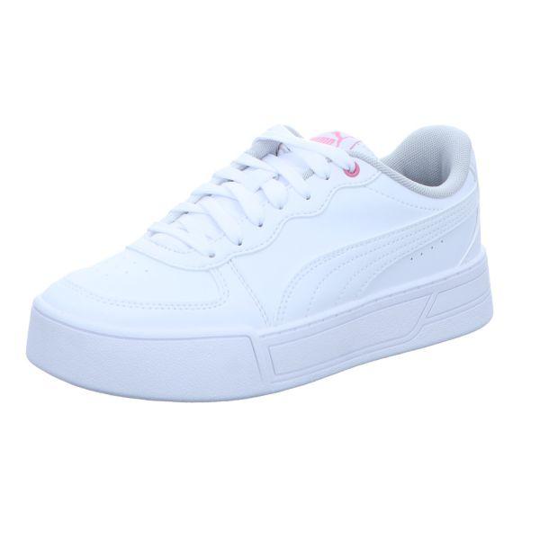 Puma Mädchen-Schnürhalbschuh-Sneaker Skye Jr Weiß