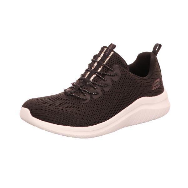 Skechers Damen-Sneaker-Slipper Ultra Flex 2.0 Lite-Groove Air Cooled Memory Foam Schwarz