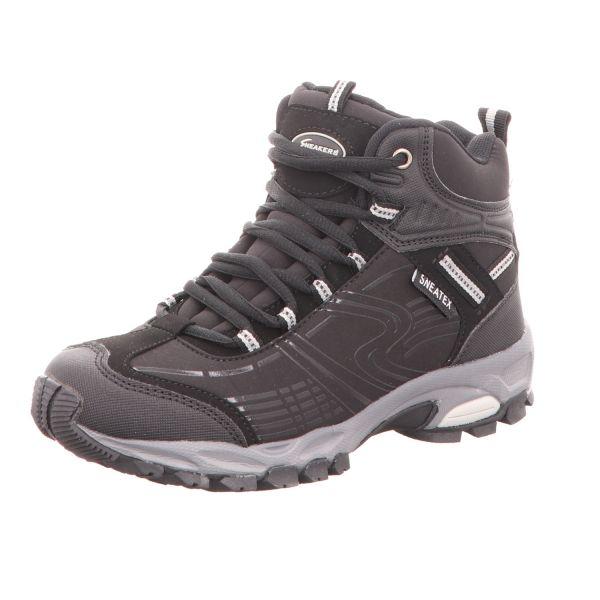 Sneakers Damen-Leichtwanderstiefel Schwarz