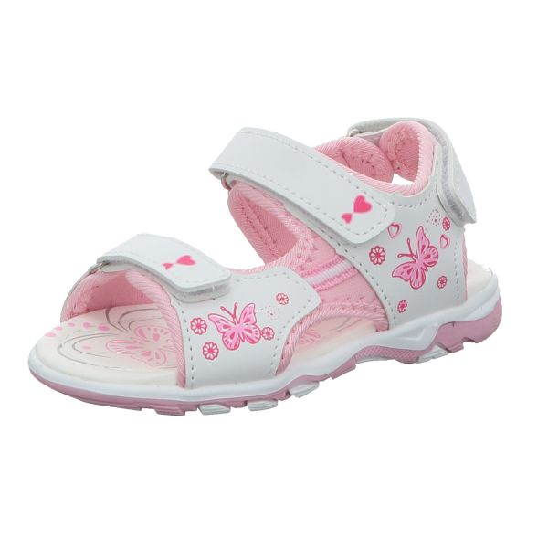 girlZ onlY Mädchen-Sandalette Weiß-Pink