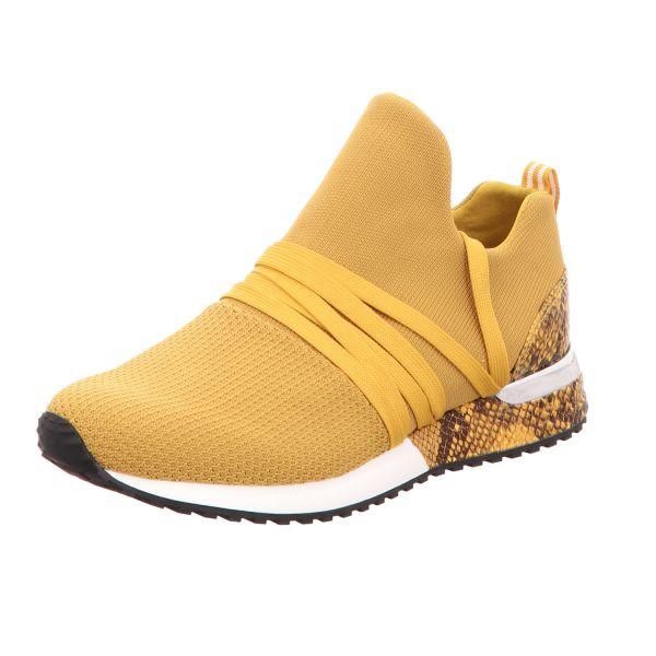 La Strada Damen-Sneaker-Slipper Knitted sneaker with laces Gelb