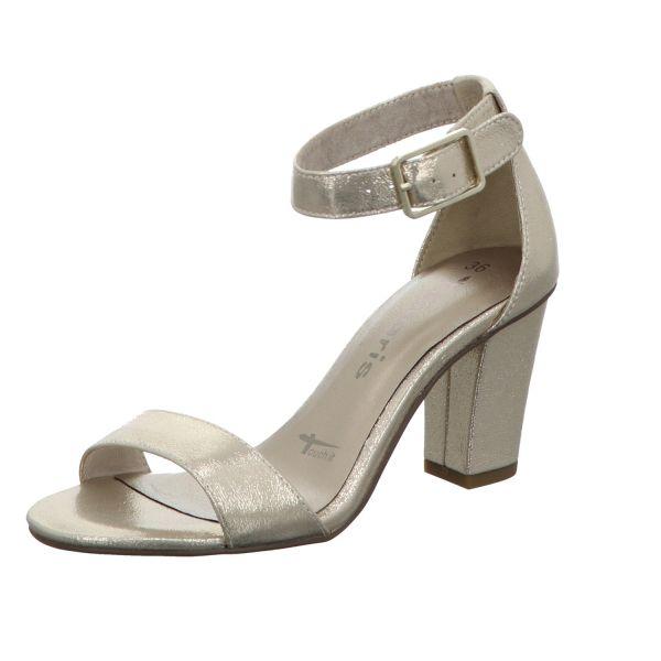 Tamaris Damen-Sandalette mit Absatz Metallic