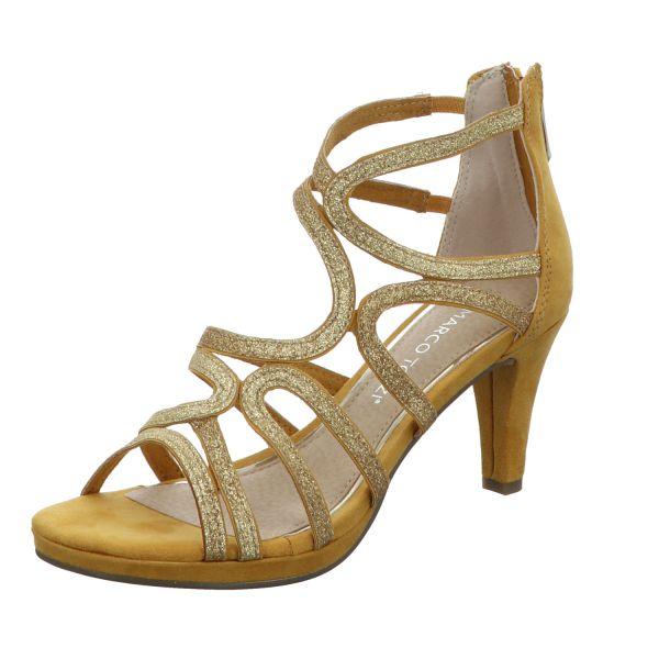 MARCO TOZZI Damen-Sandalette Gold-Gelb