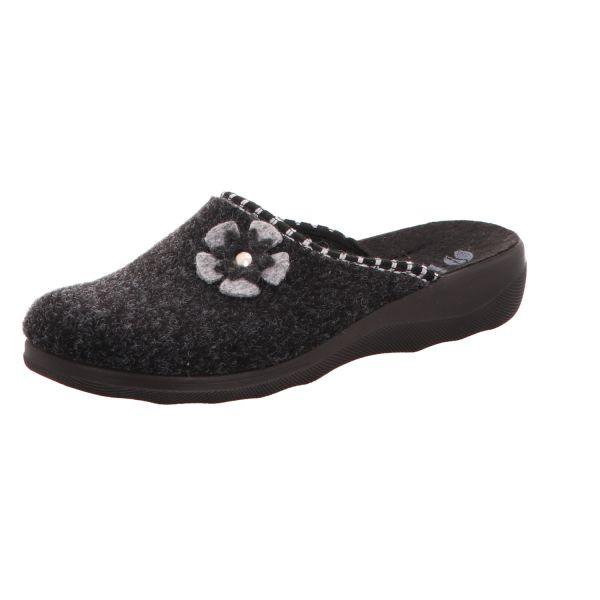 inblu Damen-Pantoffel Dunkel-Grau