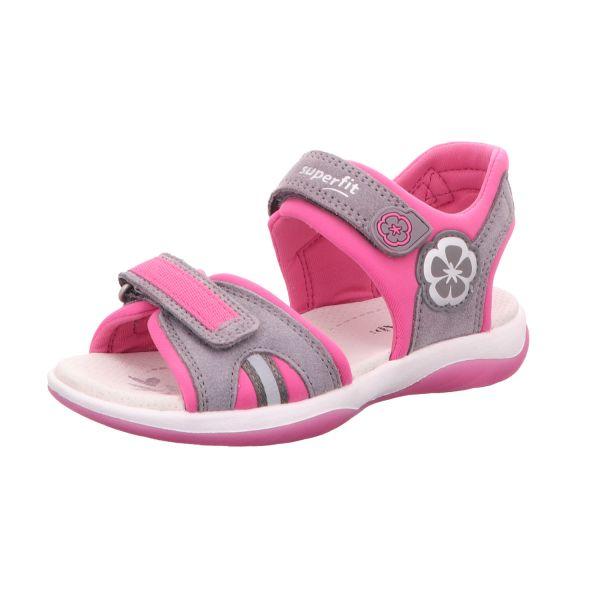Superfit Mädchen-Sandalette SUNNY Grau-Pink