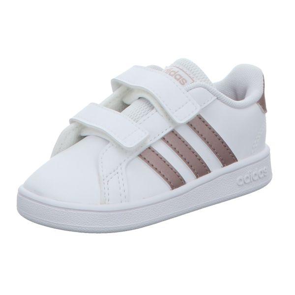 Adidas Mädchen-Slipper-Kletter-Sneaker Grand Court I Weiß