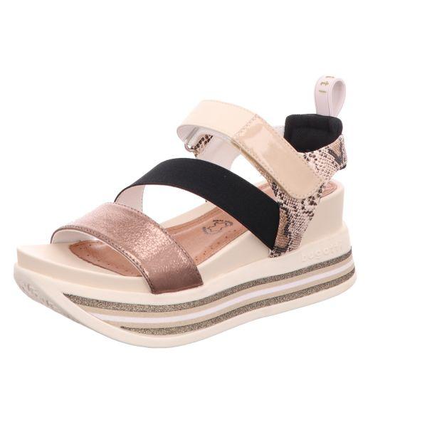 Bugatti Damen-Sandalette mit Keilabsatz Jil Beige-Multi