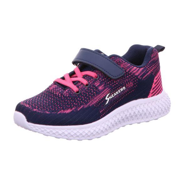 Sneakers Mädchen-Kletter-Sneaker Blau-Pink