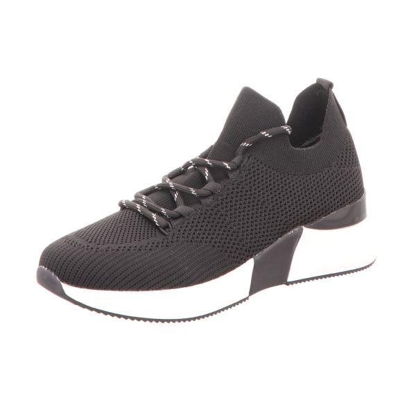 La Strada Damen-Sneaker Knitted Sneaker Schwarz