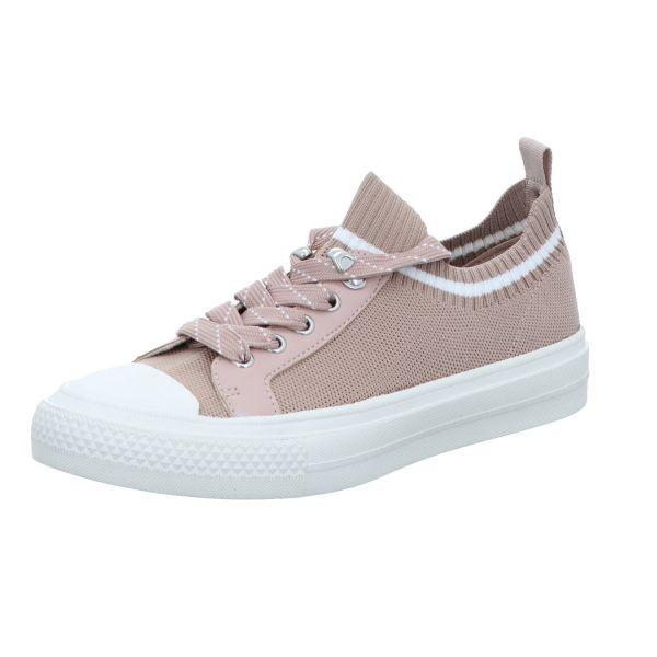 La Strada Damen-Leinenschnürer-Sneaker Beige