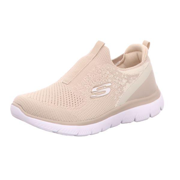 Skechers Damen-Slipper-Sneaker Summits Daily Flourish Beige