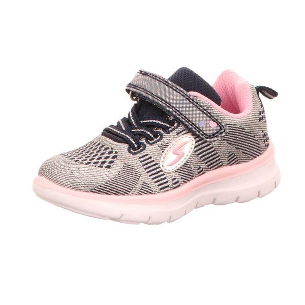 Sneakers Mädchen-Slipper-Kletter-Sneaker Blau-Pink