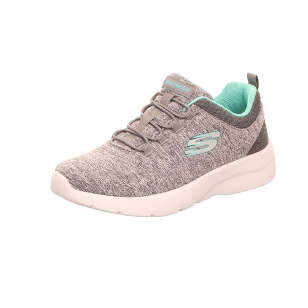 Skechers Damen-Sneaker-Slipper Dynamight 2.0 In A Flash Memory Foam Grau