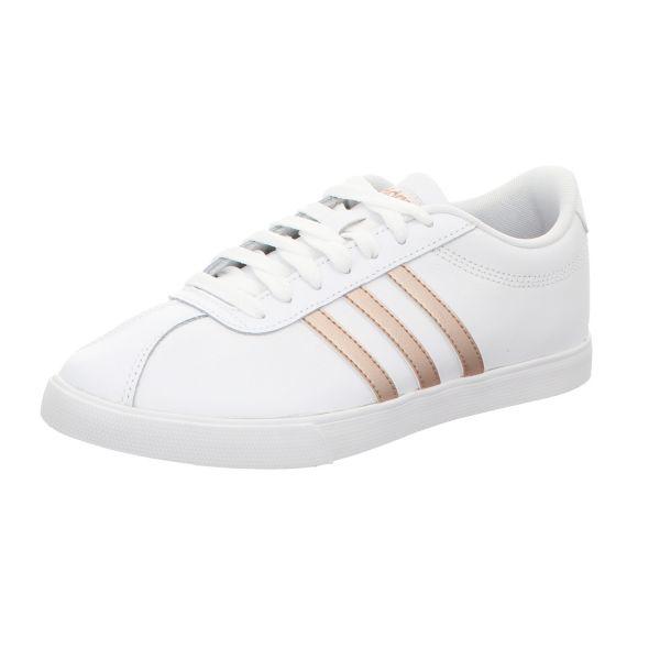 Adidas Damen-Sneaker Courtset Weiß