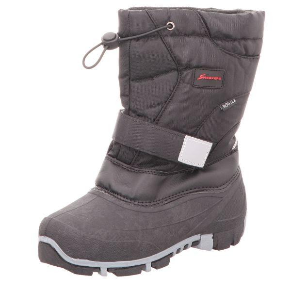 Sneakers Jungen-Tex-Allwetterstiefel Warmfutter Schwarz