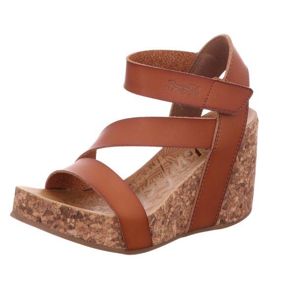 Blowfish Damen-Sandalette mit Keilabsatz Hapuku Braun
