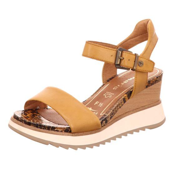 Tamaris Damen-Sandalette Saffran-Gelb