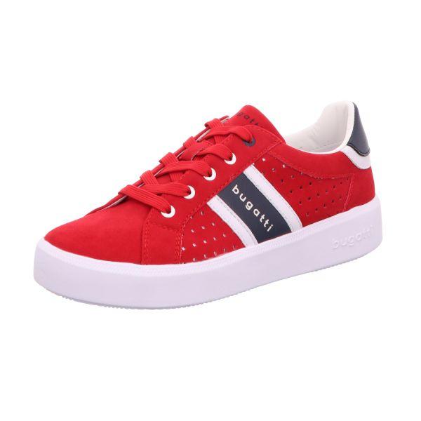 Bugatti Damen-Sneaker-Schnürhalbschuh Rot