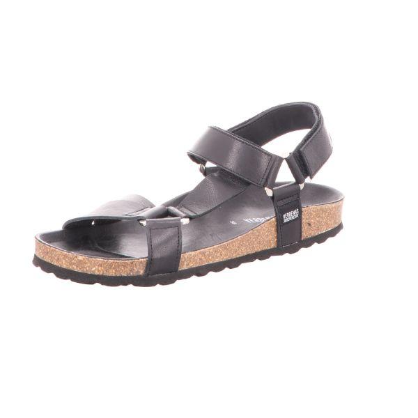 Verbenas Damen-Sandalette mit Tieffußbett Schwarz