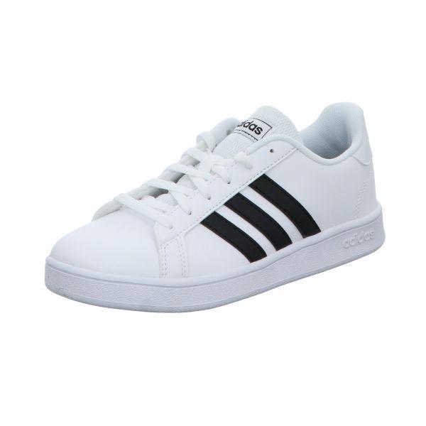 Adidas Mädchen-Sneaker Grand Court K Weiß