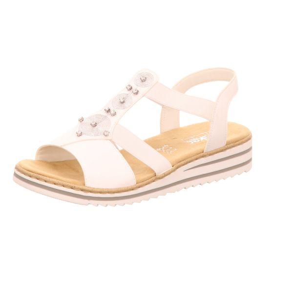 Rieker Damen-Sandalette Weiß