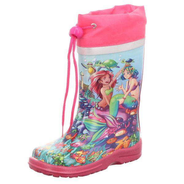 Beck Kinder-Gummistiefel Meerjungfrau Mehrfarbig-Pink