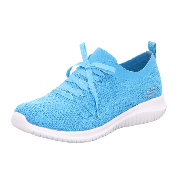 Skechers Damen-Sneaker-Slipper Ultra Flex Blau
