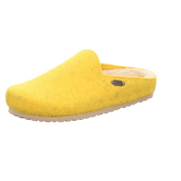 Home Comfort Damen-Pantoffel mit Warmfutter Gelb