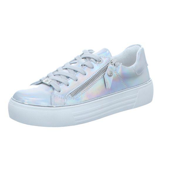Dockers Damen-Sneaker-Schnürhalbschuh Silber