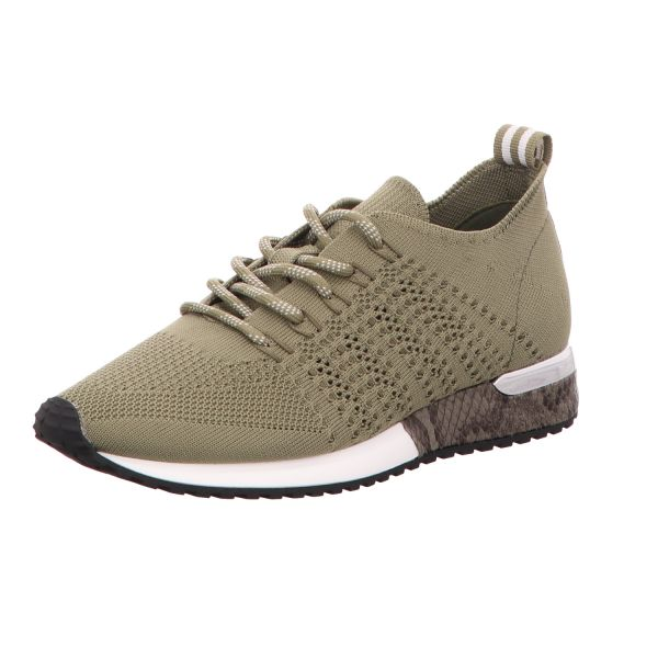 La Strada Damen-Sneaker-Schnürhalbschuh Laced up knitted sneaker Grün
